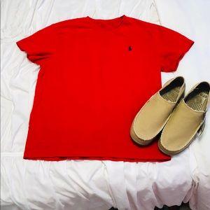 Polo Ralph Lauren red short sleeved tee.